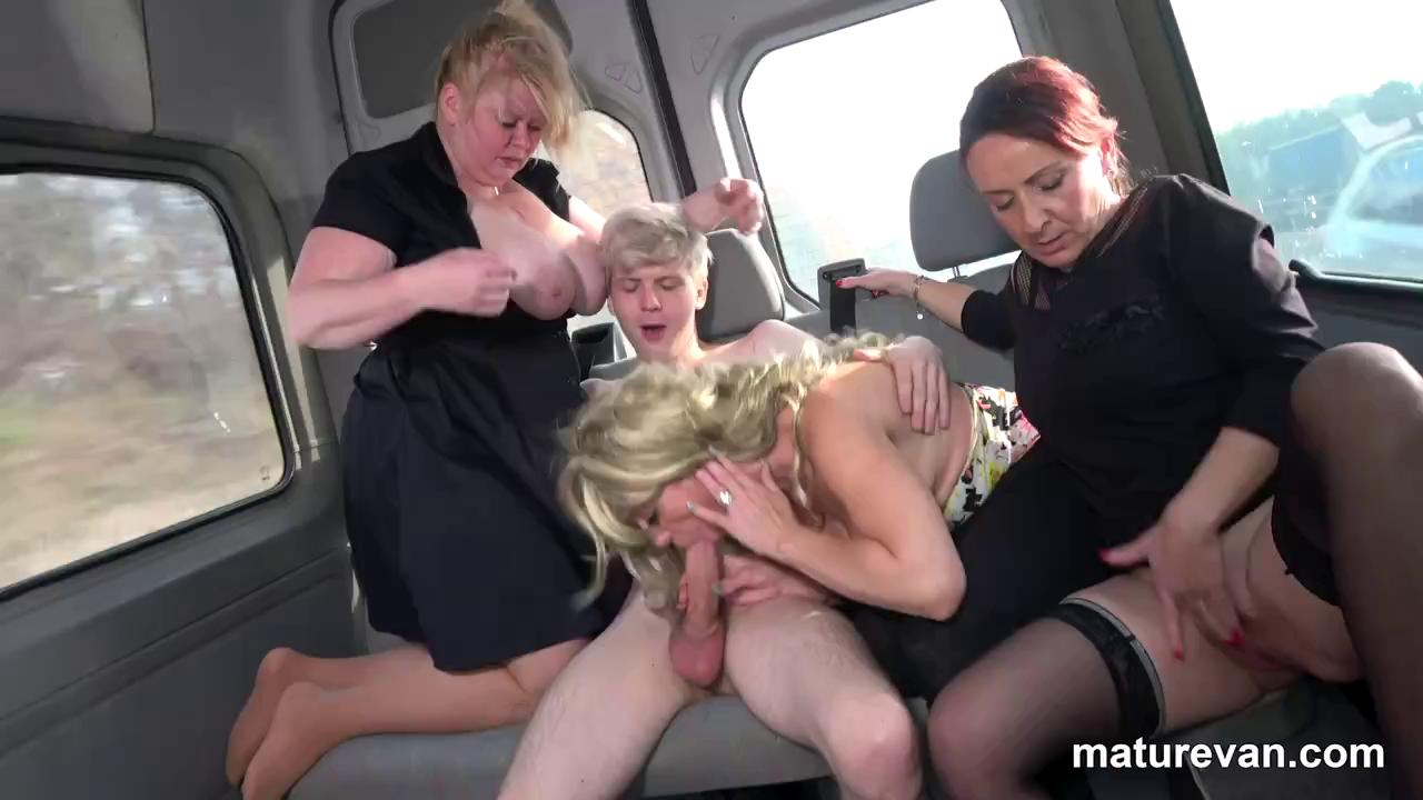 MatureVan Sucking and fucking one young cock